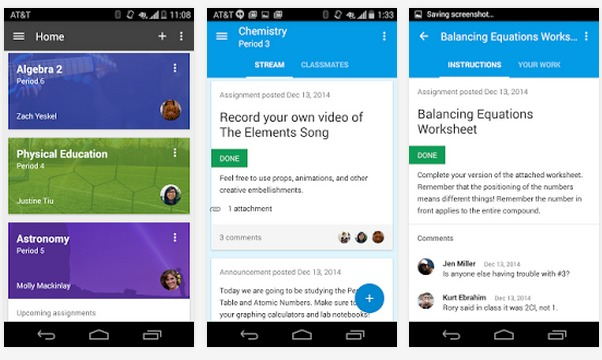 Google Classroom   Applications Android sur GooglePlay