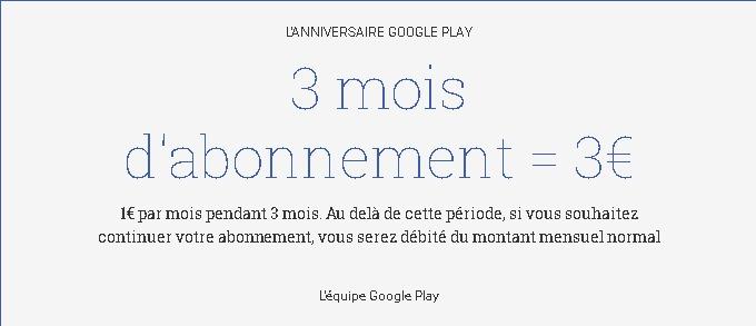 3 mois d abonnement   3€   Kiosque sur GooglePlay