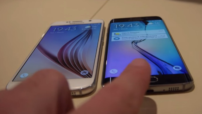 MWC2015 Samsung Galaxy S6 vs Galaxy S6 Edge   YouTube