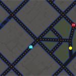 Google Maps propose la navigation en mode Pac Man [p[poisson d'avril]width=