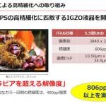 Sharp prépare un écran de 5.5 pouces avec 3840×2160 pixels et 806 PPI