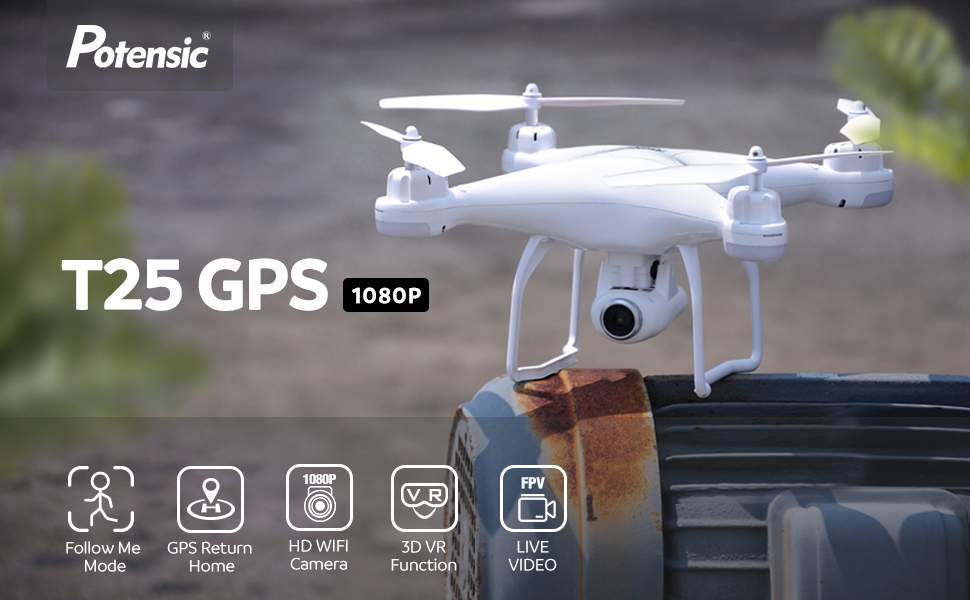 Potensic GPS FPV T25
